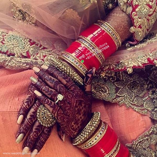 Shahi Designer Chura Bridal Wedding Punjabi Choora Fashion Jewellery Chuda  Set