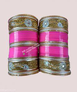 Golden Pink Bridal Chura