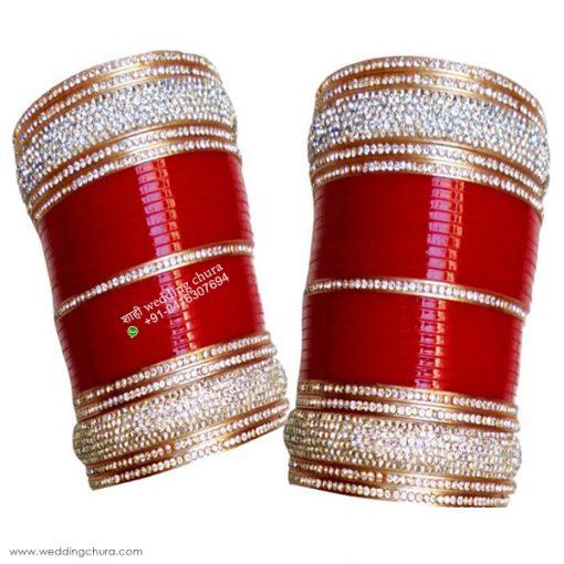red bridal chura