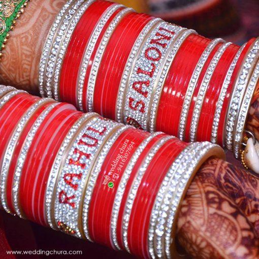 Bridal Chura With Name Bangles
