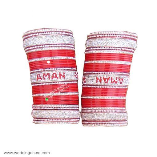 Customized Wedding Chura And Name Bangles